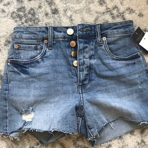 sts blue high waisted jean shorts
